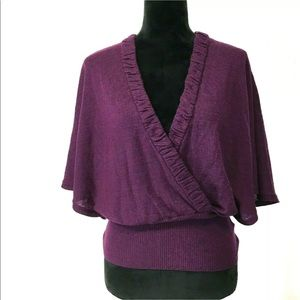 Anthropologie Sm Sweater Top SPARROW Purple Wool